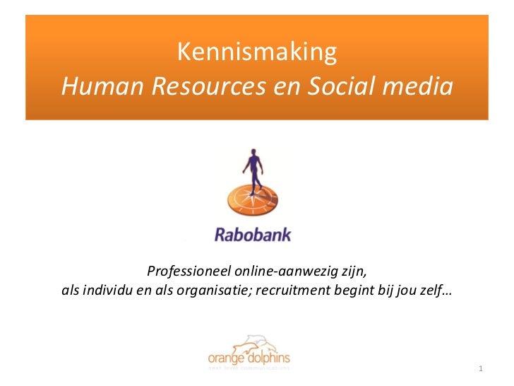 Kennismaking Human Resources En Social Media
