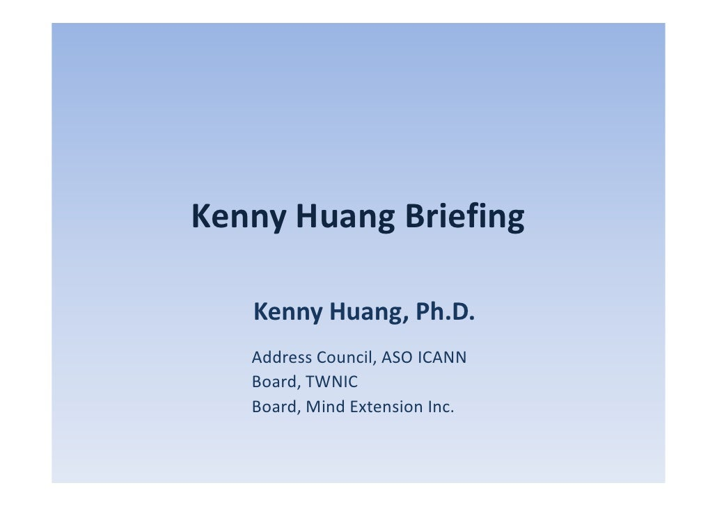 APNIC EC Election - Kenny Huang