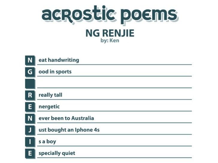 Ken s acrostic poem