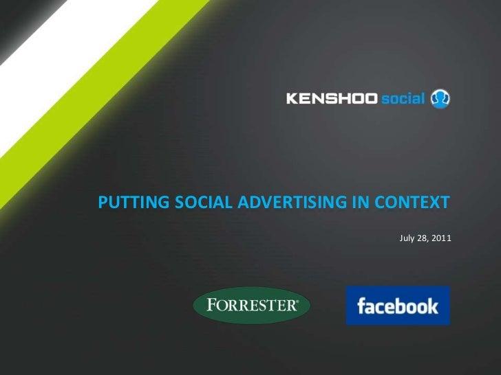 Kenshoo Social Webinar: Putting Social Advertising in Context