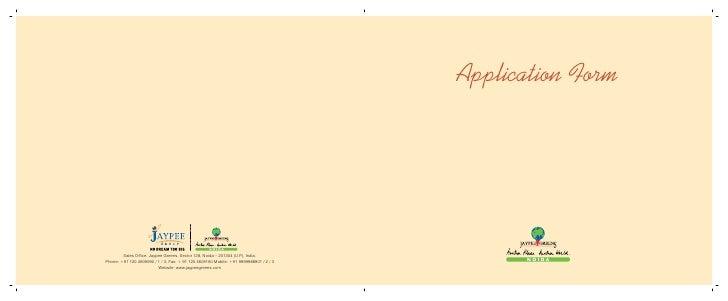 Kensington park plot-jaypee --phase-1-app-form- call 91 9958959555