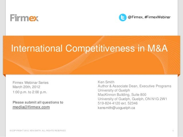 International Competitiveness in M&A