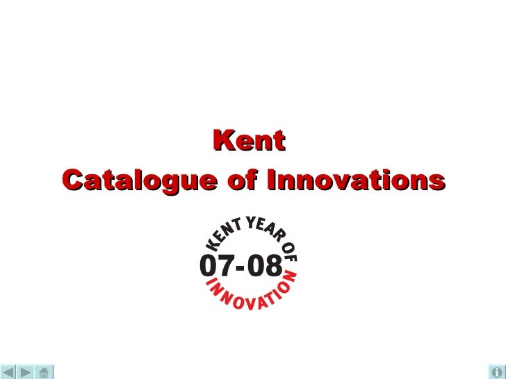 Kent  Catalogue of Innovations