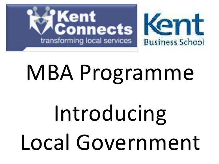 MBA Programme   IntroducingLocal Government
