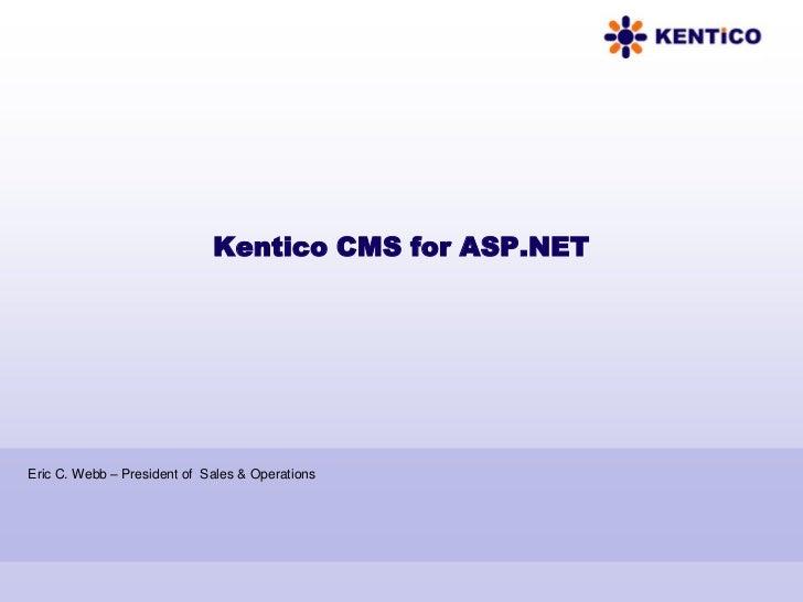 Kentico CMS Demo Standard