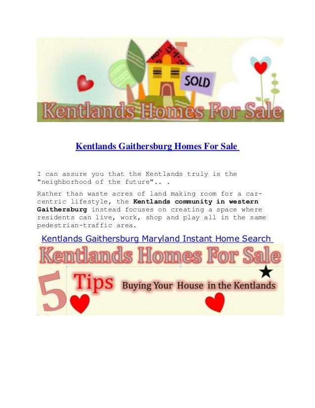Kentlands gaithersburg homes for sale
