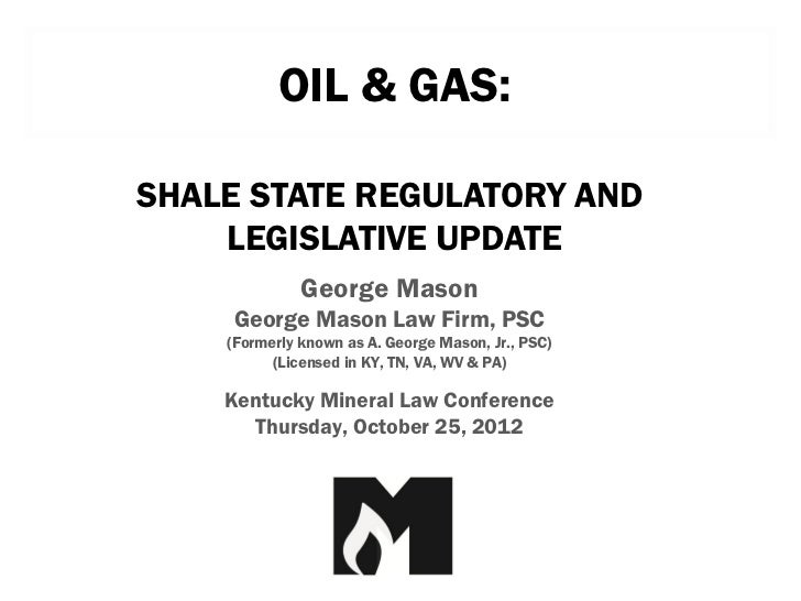 Kentucky  mineral law conference presentation