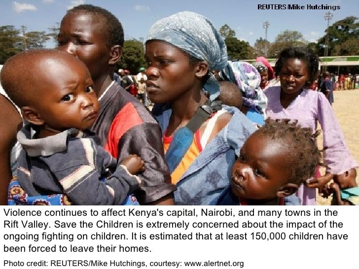 Violence continues to affect Kenya's capital, Nairobi, and many towns in the Rift Valley. Save the Children is extremely c...