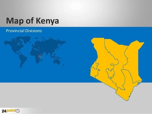 Map of Kenya Provincial Divisions