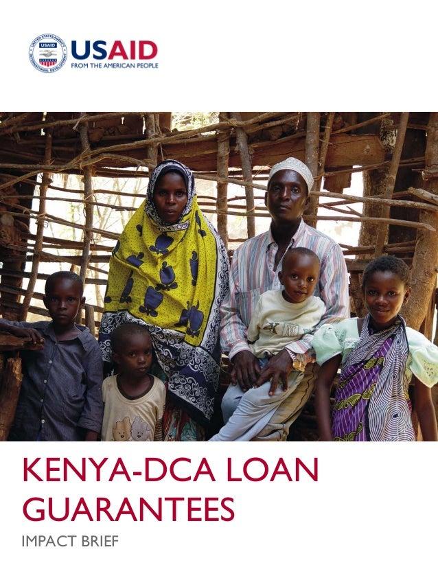 KENYA-DCA LOAN GUARANTEES IMPACT BRIEF