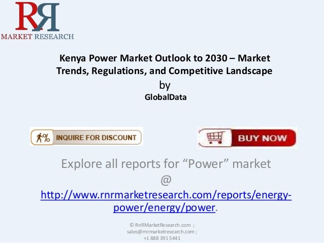Kenya Power Market Outlook to 2030 – Market Trends, Regulations, and Competitive Landscape  by GlobalData  Explore all rep...