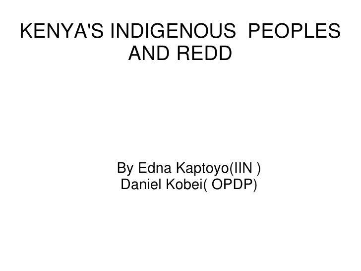 Kenya's indigenous peoples and redd