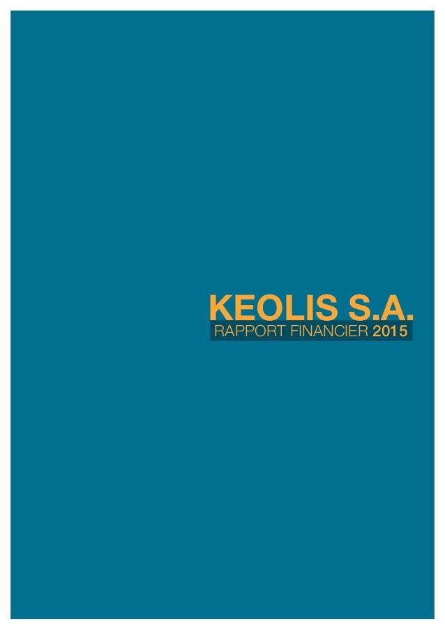 rapport financier 2015 keolis s.a.