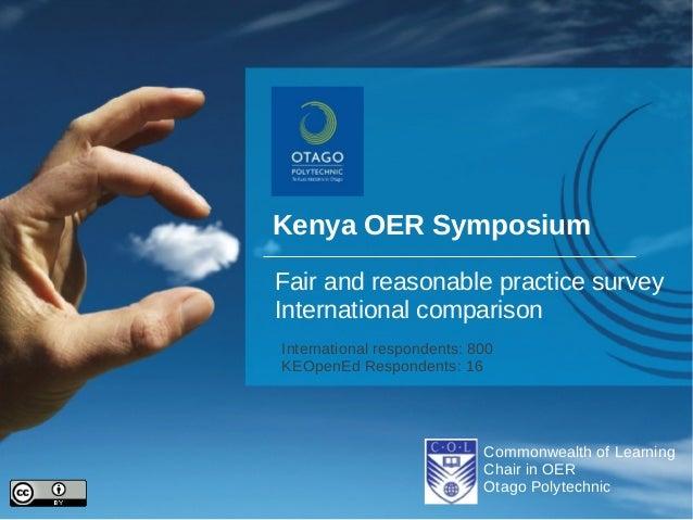 Ke open ed-fair-and-reasonable-practice survey