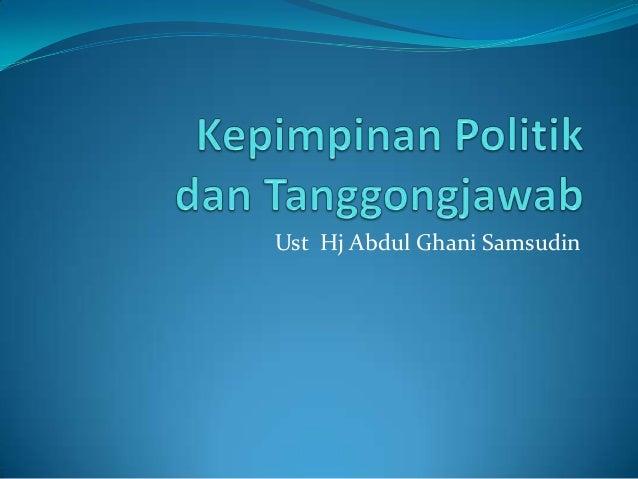 Kepimpinan politik, Maksud dan Peranan