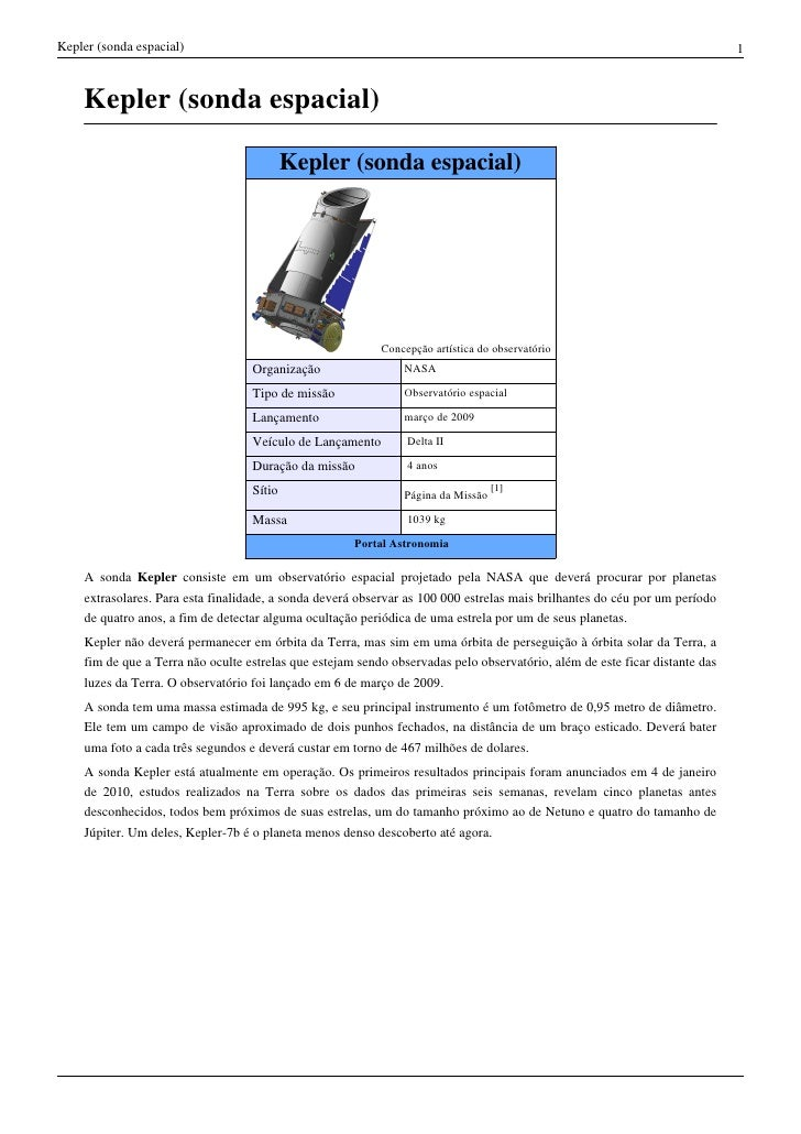 Kepler (sonda espacial)                                                                                                   ...