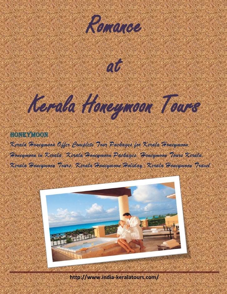 Romance at Kerala Honeymoon tours