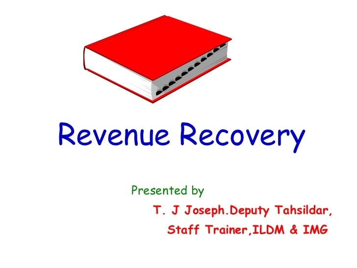 Kerala revenue recovery act 1968