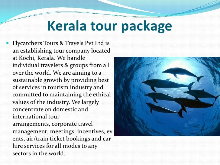 Kerala tour package Flycatchers Tours & Travels Pvt Ltd is  an establishing tour company located  at Kochi, Kerala. We ha...