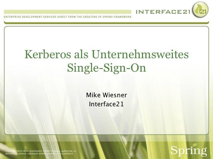 Kerberos als Unternehmsweites Single Sign On