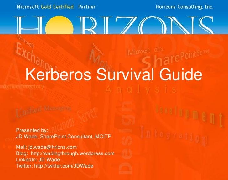 Kerberos survival guide