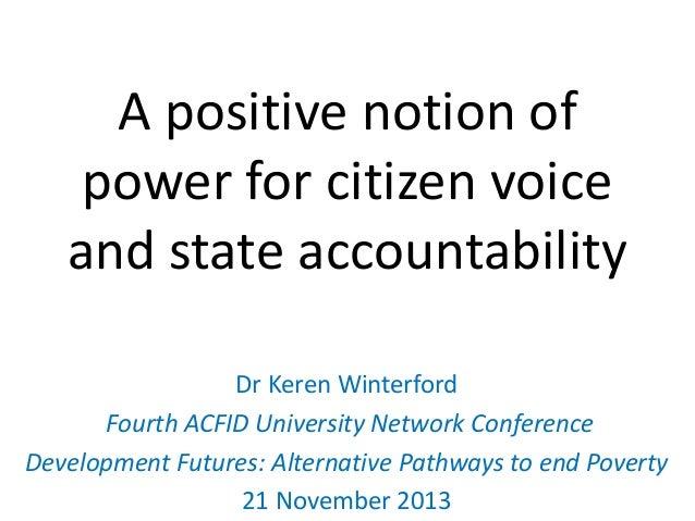 Keren Winterford A positive notion of power