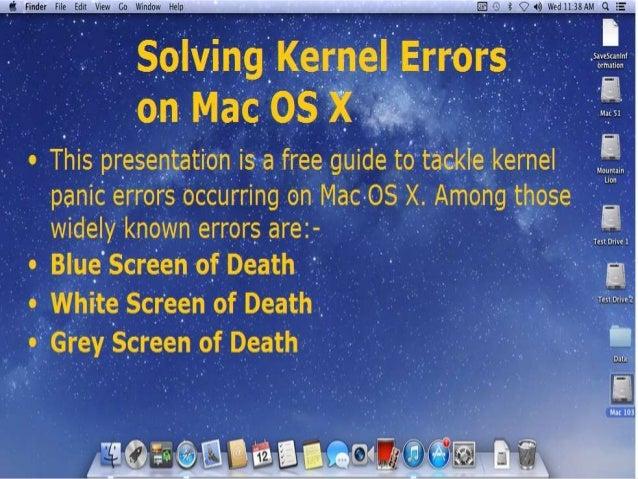 Resolving Kernel panic on Mac OS X