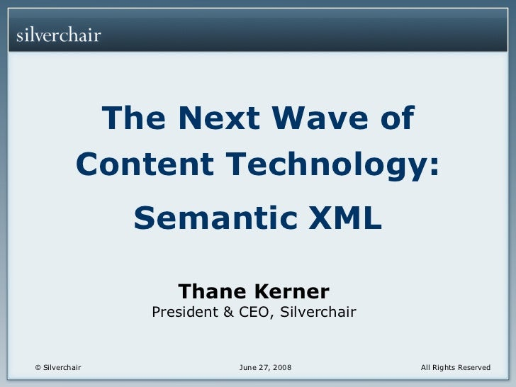 AAUP 2008: Making XML Work (T. Kerner)