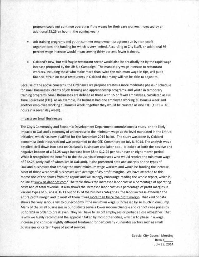 essay against minimum wage