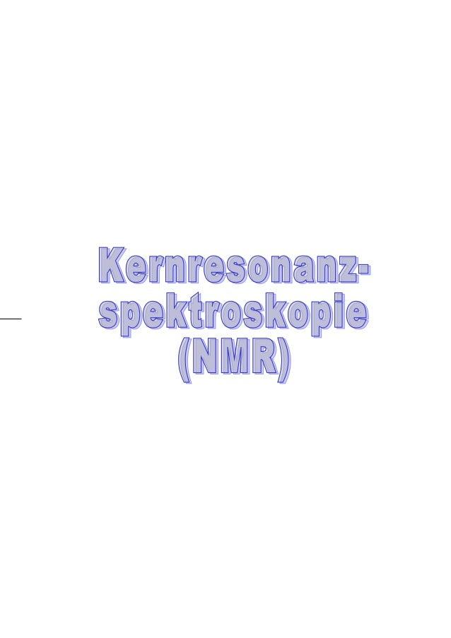Kernresonanzspektroskopie