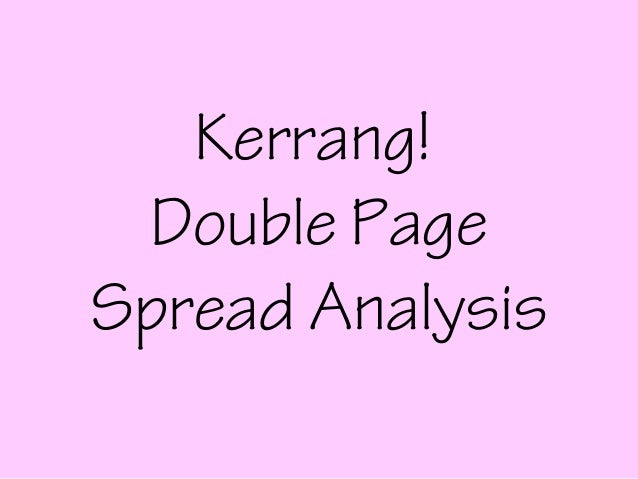 Kerrang! Double PageSpread Analysis