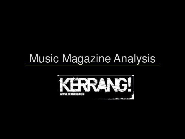 Kerrang analysis