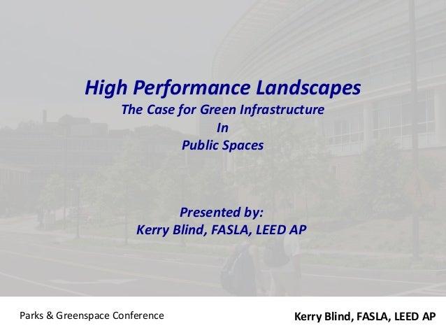 Green Infrastructure 101 - KB