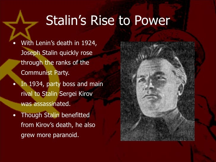 what extent was the rise to power of stalin essay These are my ib notes on stalin they cover stalin's rise to power stalin what was the extent of stalin's power documents similar to ib history stalin.