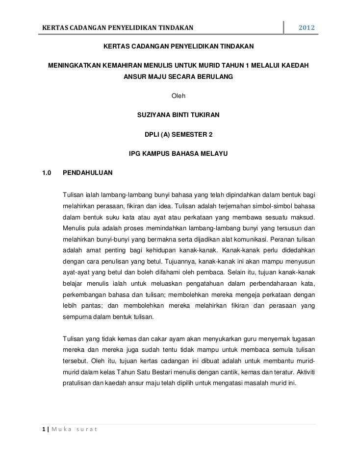 Kertas cadangan penyelidikan tindakan