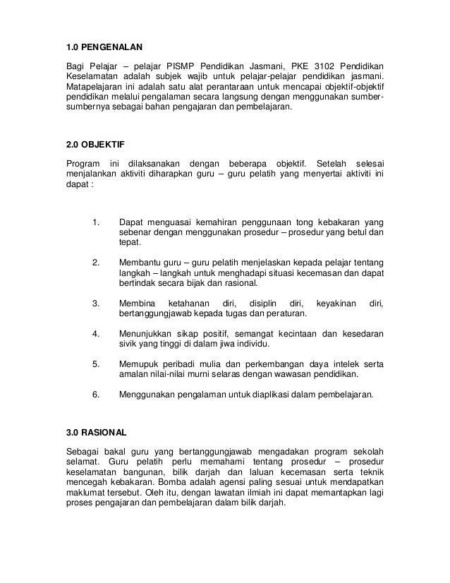 Kertas kerja program lawatan ke akademi bomba dan penyelamat malaysia 0