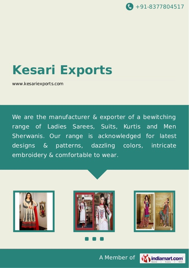 +91-8377804517 A Member of Kesari Exports www.kesariexports.com We are the manufacturer & exporter of a bewitching range o...