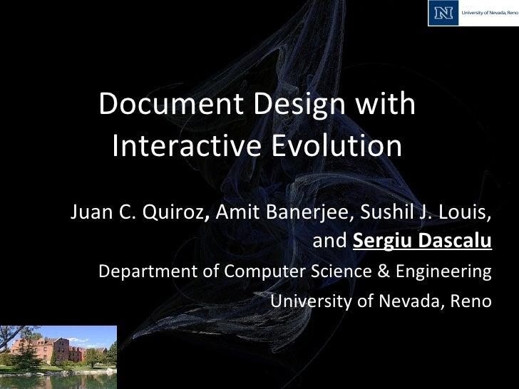KES IIMSS 2009: Document Design with Interactive Evolution
