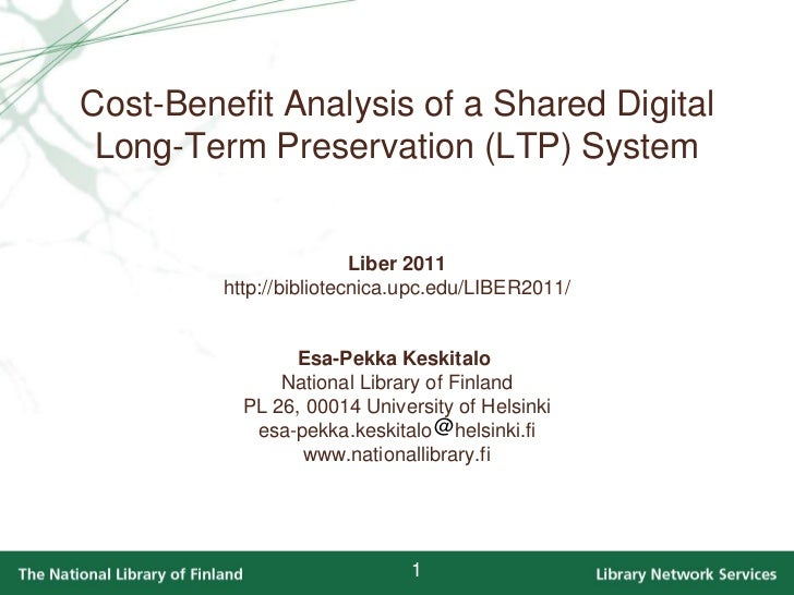 Cost-Benefit Analysis of a Shared Digital Long-Term Preservation System