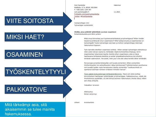 palkkatoive työhakemus Kuusamo