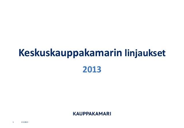 Keskuskauppakamari linjaukset 2013