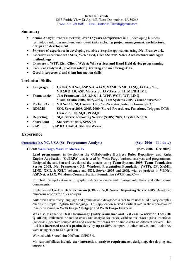 Ketan Trivedi Resume