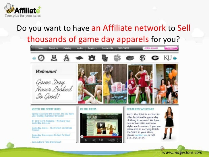 Do you want to have an Affiliate network to Sell  thousands of game day apparels for you?                                 ...
