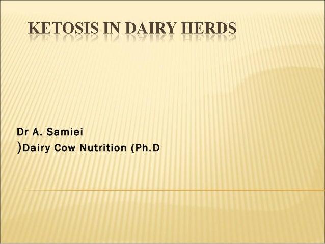Dr A. Samiei Dairy Cow Nutrition (Ph.D(