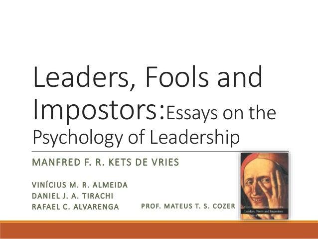 Kets de Vries - Leaders, fools and impostors