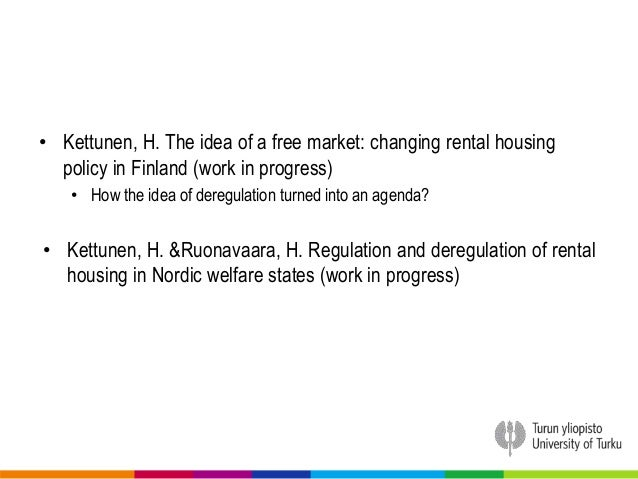 Dissertation housing policy