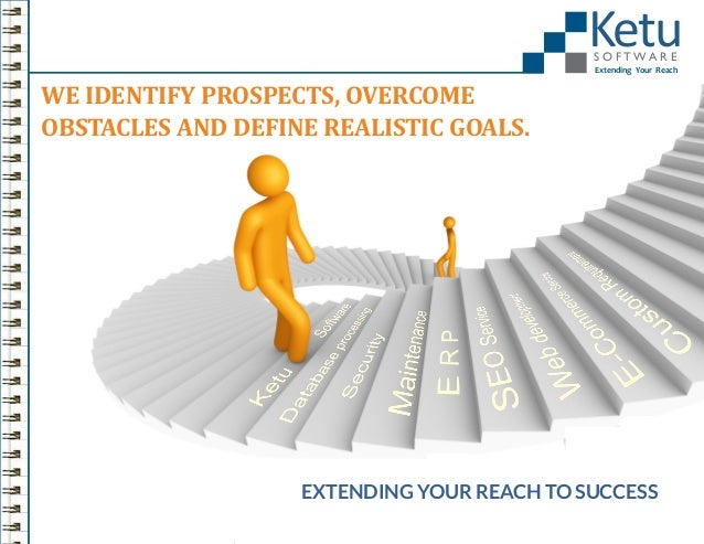 Ketu S O FTWA R E  Extending Your Reach  WE IDENTIFY PROSPECTS, OVERCOME OBSTACLES AND DEFINE REALISTIC GOALS.  EXTENDING ...