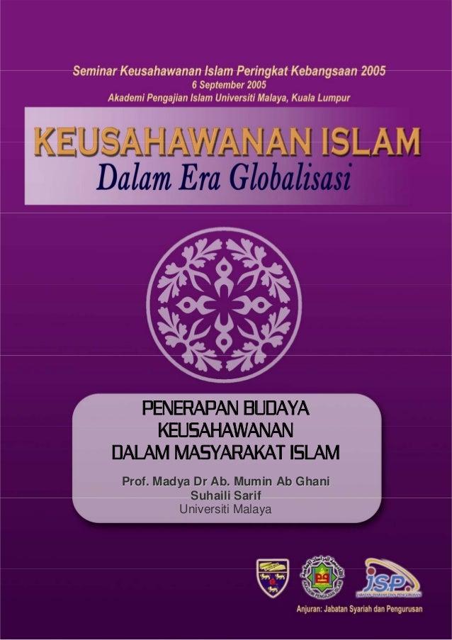 Seminar Keusahawanan Islam Peringkat Kebangsaan 2005              PENERAPAN BUDAYA                KEUSAHAWANAN           D...