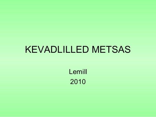KEVADLILLED METSAS Lemill 2010