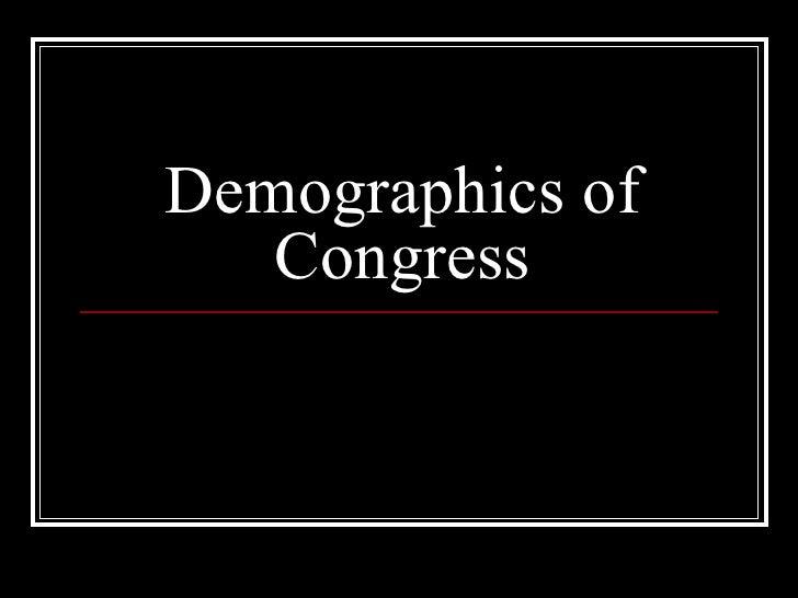 Demographics of Congress